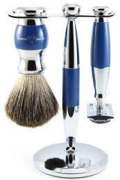 Edwin Jagger scheerset S21M363CRSR - Synthetisch - Blauw