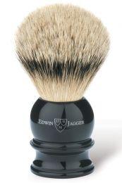 Edwin Jagger scheerkwast dashaar zilverspits zwart Small