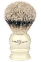 Edwin Jagger scheerkwast dashaar zilverspits wit Small