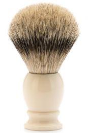 Muhle scheerkwast dashaar zilverspits CLASSIC wit XL