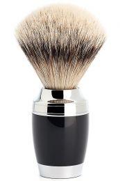 Muhle Stylo scheerkwast zilverspits dashaar zwart/chroom