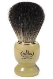 Omega scheerkwast dashaar hoorn wit