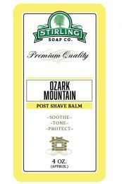 Stirling Soap Co. after shave balm Ozark Mountain 118ml