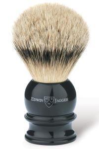 Edwin Jagger scheerkwast dashaar zilverspits zwart XL