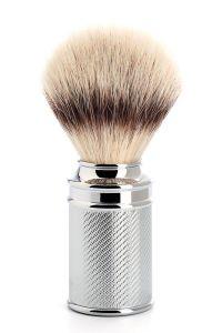 Muhle scheerkwast synthetisch haar Silvertip Fibre Traditional chroom