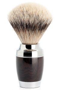 Muhle Stylo scheerkwast zilverspits dashaar Afrikaans Zwarthout