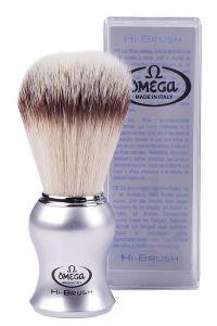 Omega scheerkwast synthetisch haar Hi-Brush matzilver