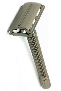 TIMOR double edge safety razor zwartchroom 100mm handvat