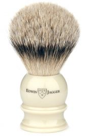 Edwin Jagger scheerkwast dashaar zilverspits wit L