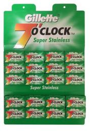 Gillette double edge scheermesjes 7 O'Clock Super Stainless 100 stuks