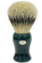 Omega scheerkwast dassenhaar zilverspits Groen model 6210