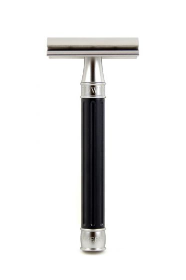 Edwin Jagger 3ONE6 double edge safety razor Black RVS