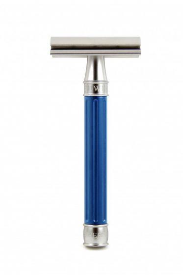 Edwin Jagger 3ONE6 double edge safety razor Blue RVS