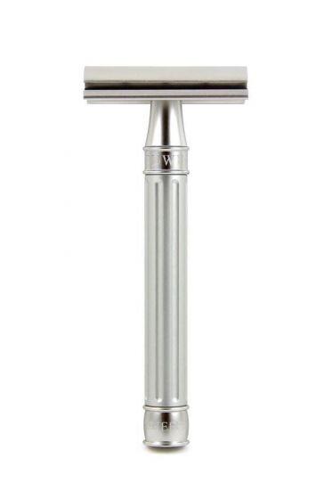 Edwin Jagger 3ONE6 double edge safety razor Silver RVS