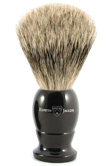 Edwin Jagger scheerkwast dashaar bestbadger zwart M
