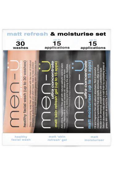Men-Ü Matt Refresh/Moisturise set 3 x 15ml