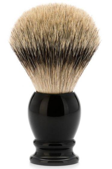 Muhle scheerkwast dashaar zilverspits CLASSIC zwart XL