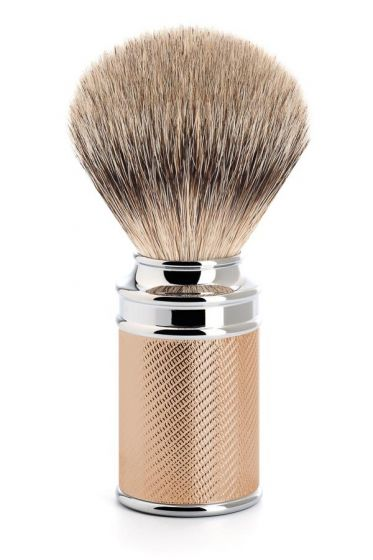 Muhle scheerkwast dashaar zilverspits Traditional Rosegold
