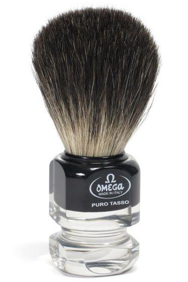 Omega scheerkwast dashaar zwart plexi