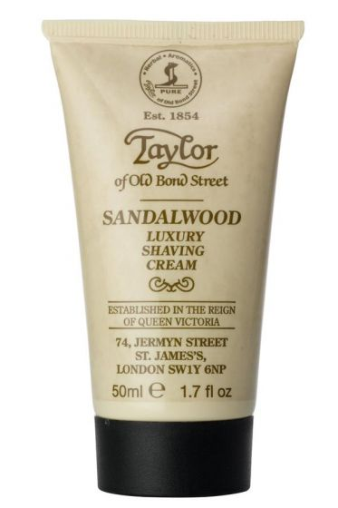 Taylor of Old Bond Str. scheercrème Sandelhout 50ml