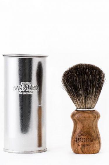 Antiga Barbearia de Bairro scheerkwast dassenhaar Eikenhout