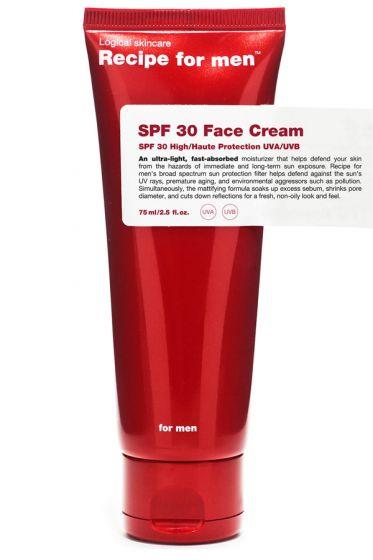 Recipe for Men Face Cream SPF30 75ml