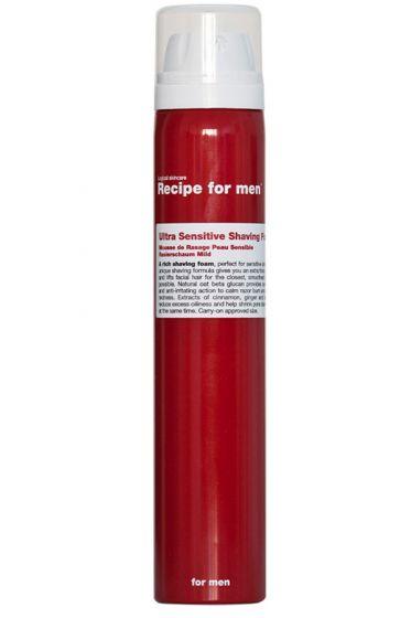 Recipe for Men scheerschuim voor gevoelige huid 100ml