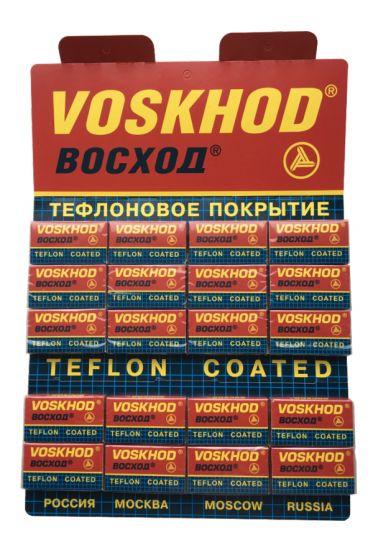 Voskod Teflon Coated double edge scheermesjes 100 stuks